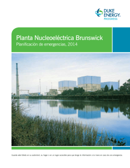Planta Nucleoeléctrica Brunswick – Planificación de