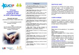 """II Curso: """"Cuidado óptimo al final de la vida en UCIP y Neonatología"""""""