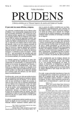 Leer Prudens 8 - Tribunal Superior de Justicia del Estado de Yucatán
