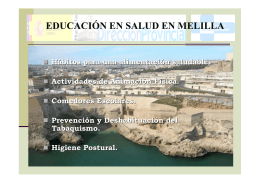 Health Education in Melilla