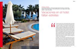Vacaciones en el hotel: faltan estrellas