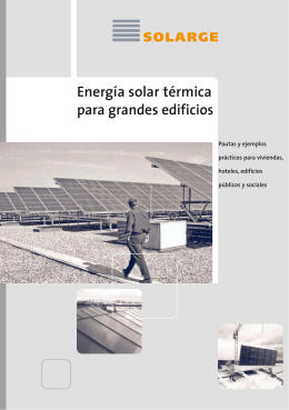 Energía solar térmica para grandes edificios