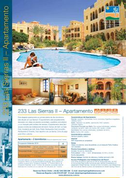 233 Las Sierras II – Apartamento 233 Las Sierras II
