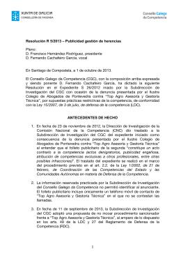 en castellano - Consello Galego da Competencia