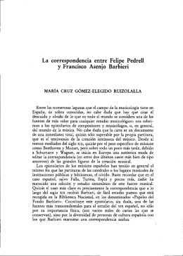 La correspondencia entre Feli e Pedrell y Francisco Asenjo