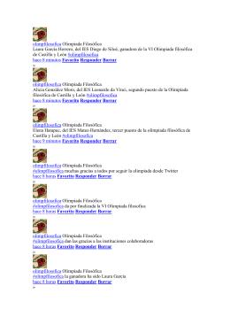Tweets de la VI Olimpiada filosófica de Castilla y León (texto en pdf)