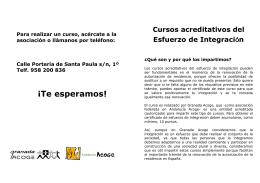 folleto - Granada Acoge