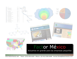 Folleto en PDF - Factor México