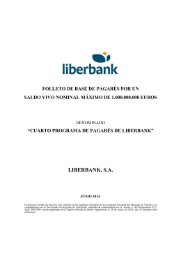 Folleto de Base Pagarés Liberbank 2014