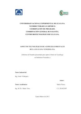 informe de pasantia de tecnologo Maria Flores
