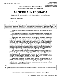 ÁLGEBRA INTEGRADA