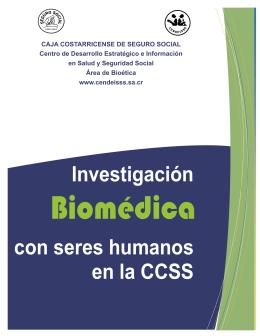 Investigación con seres humanos en la CCSS