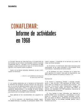 conaflemar: informe de actividades en 1968
