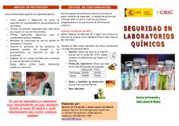 Seguridad en laboratorios químicos