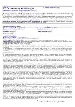 CAJA MADRID FONDLIBRETA 2014, FI