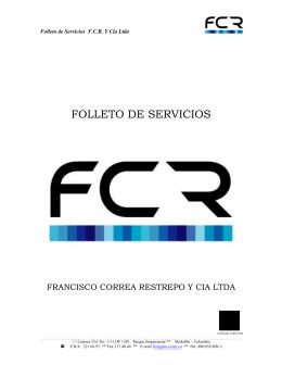 FOLLETO DE SERVICIOS