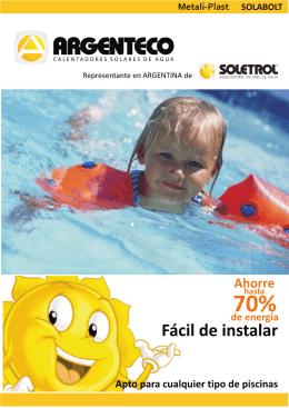 Folleto Piletas mail - Argenteco :: Calentadores Solares de Agua
