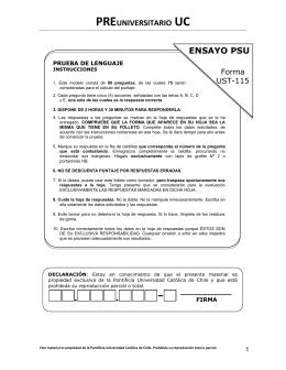 preuniversitario uc - Ensayo Nacional PSU