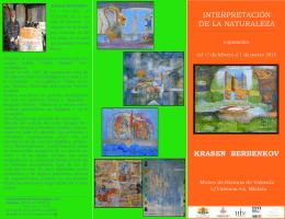INTERPRETACIÓN DE LA NATURALEZA KRASEN BERBENKOV