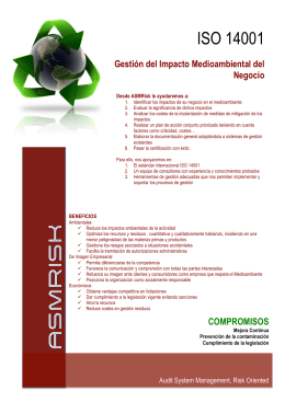FOLLETO ISO 14001