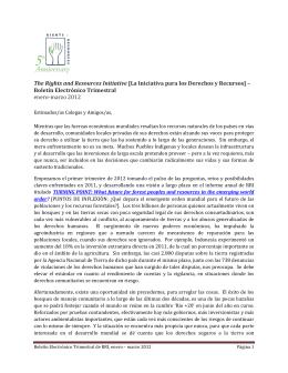 Boletín Electrónico Trimestral enero-ma