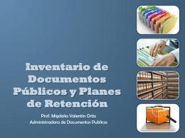 Inventario de Documentos Públicos y Planes de Retención
