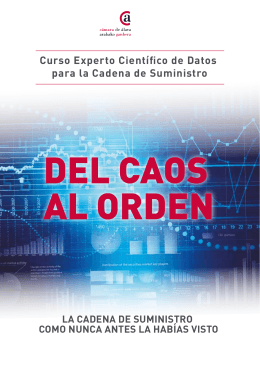 Curso Experto científico de datos para la cadena de suministro (PDF