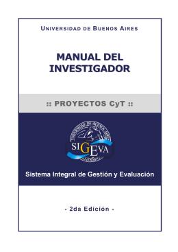 Manual del Investigador (SIGEVA)