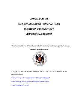 manual docente para investigadores principiantes en psicología