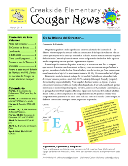 Creekside Cougar News March 2014 ESP