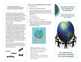 Un sistema de escuelas públicas de nivel mundial