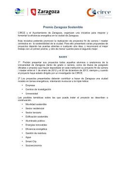 Bases Premio Zaragoza Sostenible