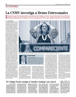 La CNMV investiga a Bruno Entrecanales