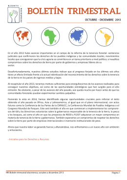 Q4.2013 Spanish_b - Rights and Resources Initiative