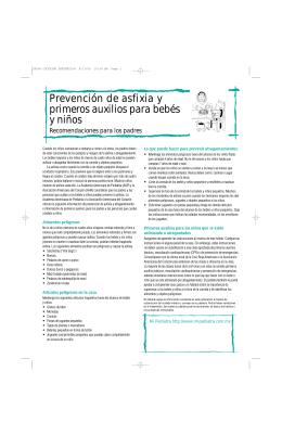 Prevención de asfixia y primeros auxilios para bebés y