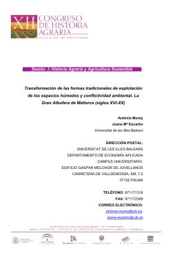 07MOREY Y ESCARTÍN - Sociedad Española de Historia Agraria