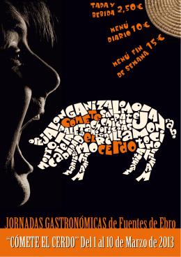 COMETE EL CERDO folleto 2013