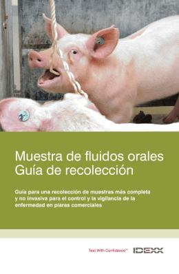 Muestra de fluidos orales Guía de recolección