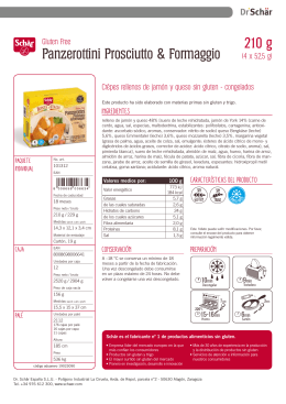 Ficha del producto Panzerottini Prosciuto