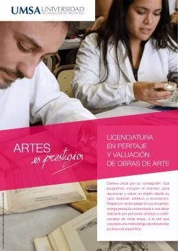 LICENCIATURA EN PERITAJE Y VALUACIÓN DE OBRAS DE ARTE