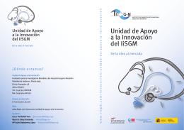 folleto unidad apoyo innovacion IISGM 2.qxd