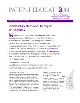 Patient Education Pamphlet, SP026, Problemas y afecciones