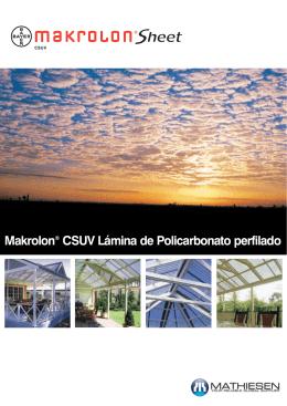 Makrolon® CSUV Lámina de Policarbonato perfilado