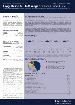 Legg Mason Multi-Manager Balanced Fund (Euro)*