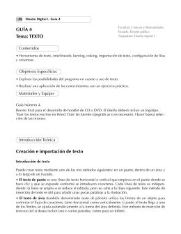 GUÍA 4 Tema: TEXTO Creación e importación de texto