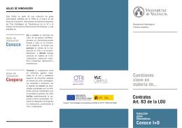 Contratos Art. 83 de la LOU Cuestiones clave en materia de