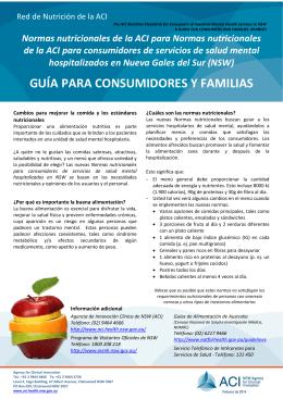 guía para consumidores y familias