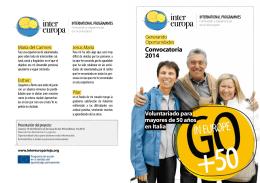 Convocatoria 2014 - Federación Riojana de Voluntariado Social