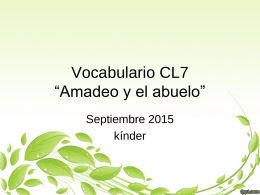 "Vocabulario CL7 ""Amadeo y el abuelo"""