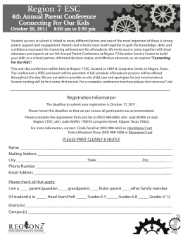 registration form copy - Region VII Education Service Center